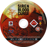 Siren Blood Curse PS3 disc (BCES00294)