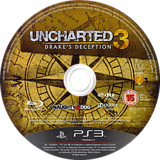 Uncharted 3: Drake's Deception PS3 disc (BCES01176)