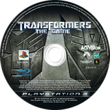 Transformers: The Game PS3 disc (BLES00094)