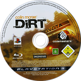 Colin McRae: DiRT PS3 disc (BLES00095)