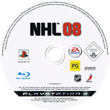 NHL 08 PS3 disc (BLES00118)