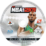 NBA 2K9 PS3 disc (BLES00384)