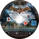 Batman: Arkham Asylum PS3 disc (BLES00503)