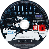 Aliens: Colonial Marines PS3 disc (BLES01455)