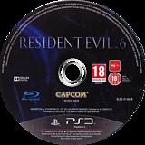 Resident Evil 6 PS3 disc (BLES01465)
