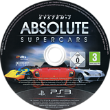 Absolute Supercars PS3 disc (BLES01500)