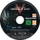 Armored Core: Verdict Day PS3 disc (BLES01898)