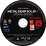 Metal Gear Solid V: Ground Zeroes PS3 disc (BLES01971)