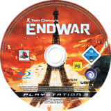 Tom Clancy's EndWar PS3 disc (BLES00326)