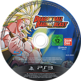 Dragon Ball: Raging Blast PS3 disc (BLES00693)