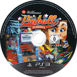 Williams Pinball Classics PS3 disc (BLES01051)
