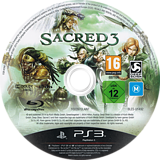 Sacred 3 PS3 disc (BLES01492)