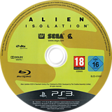 Alien: Isolation PS3 disc (BLES01697)