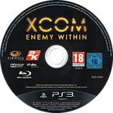 XCOM: Enemy Within - Commander Edition PS3 disc (BLES01851)