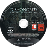 Dishonored: Game of the Year Edition PS3 disc (BLES01925)