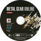 Metal Gear Online PS3 disc (BLJM60082)