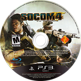 SOCOM 4: U.S. Navy SEALs PS3 disc (BCUS98135)