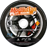 ModNation Racers PS3 disc (BCUS98167)