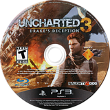 Uncharted 3: Drake's Deception PS3 disc (BCUS98233)