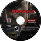 Metal Gear Solid 4: Guns of the Patriots PS3 disc (BLUS30109)