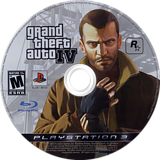 Grand Theft Auto IV PS3 disc (BLUS30127)