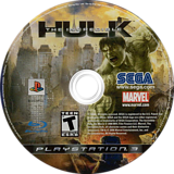 The Incredible Hulk PS3 disc (BLUS30152)