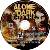 Alone in the Dark: Inferno PS3 disc (BLUS30232)