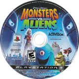 Dreamworks' Monsters vs. Aliens PS3 disc (BLUS30273)