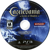 Castlevania: Lords of Shadow PS3 disc (BLUS30339)