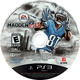 Madden NFL 13 PS3 disc (BLUS30973)