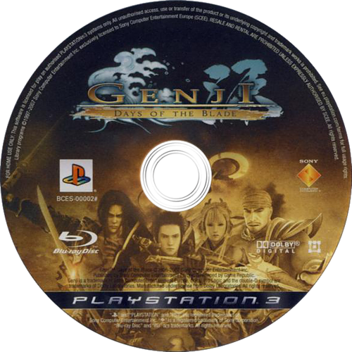 Genji: Days of the Blade PS3 discM (BCES00002)