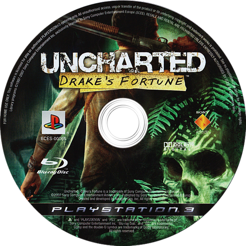 Uncharted: Drake's Fortune PS3 discM (BCES00065)