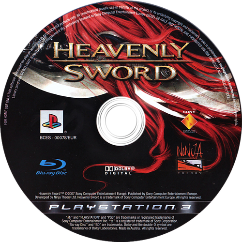 Heavenly Sword PS3 discM (BCES00078)