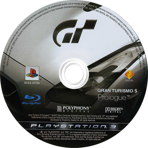 Gran Turismo 5: Prologue PS3 discM (BCES00104)