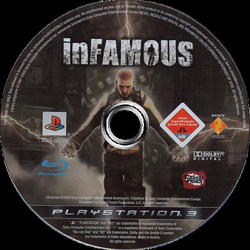 inFamous PS3 discM (BCES00220)