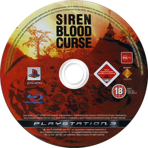 Siren Blood Curse PS3 discM (BCES00294)