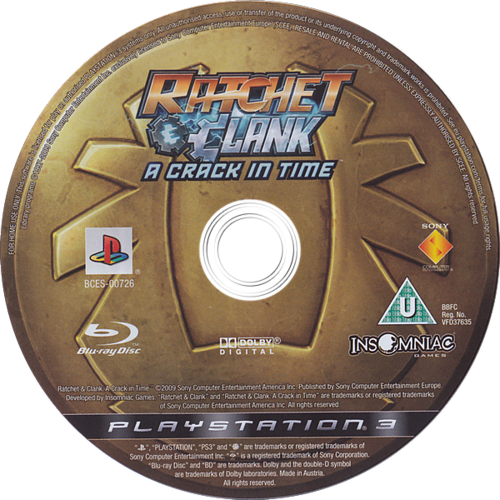 Ratchet & Clank: A Crack in Time PS3 discM (BCES00726)