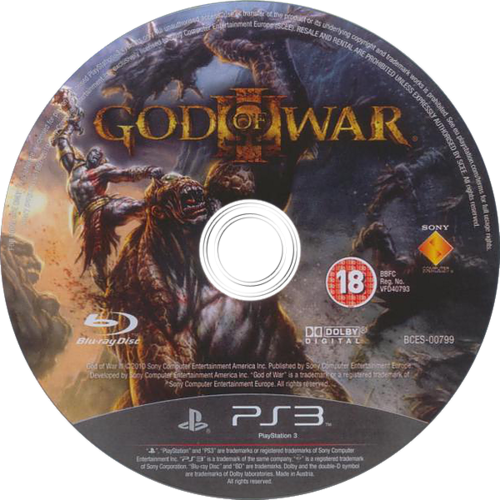 God of War III PS3 discM (BCES00799)
