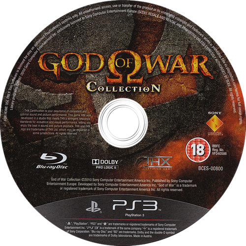 God of War Collection PS3 discM (BCES00800)