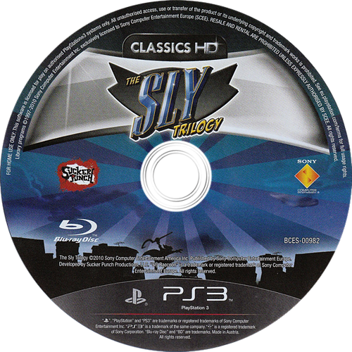The Sly Trilogy PS3 discM (BCES00982)