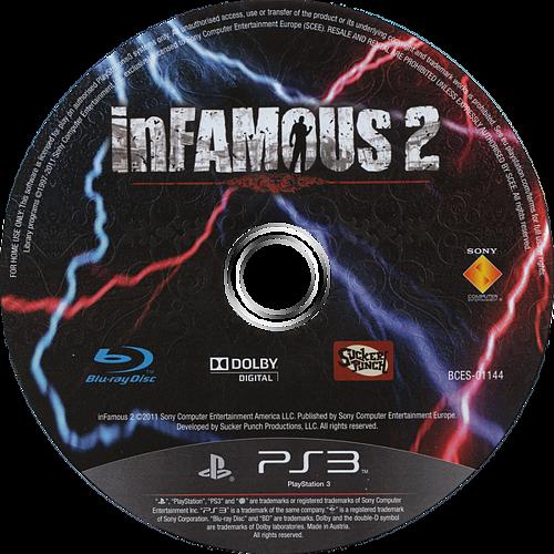 inFamous 2 PS3 discM (BCES01144)