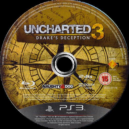 Uncharted 3: Drake's Deception PS3 discM (BCES01176)