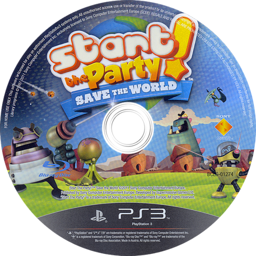 Start the Party! Save the World PS3 discM (BCES01274)