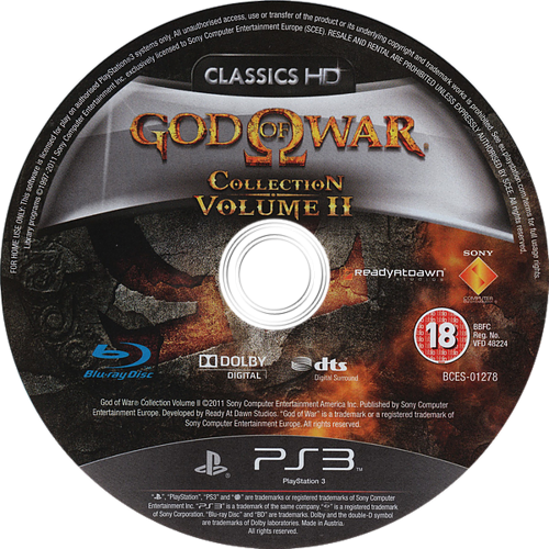 God of War Collection Volume II PS3 discM (BCES01278)