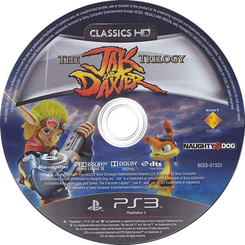 Jak & Daxter The Trilogy PS3 discM (BCES01325)