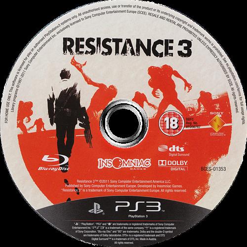 Resistance 3 PS3 discM (BCES01353)