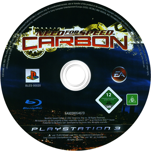 Need for Speed: Carbon PS3 discM (BLES00020)