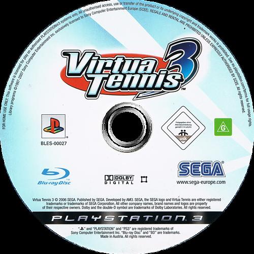 Virtua Tennis 3 PS3 discM (BLES00027)