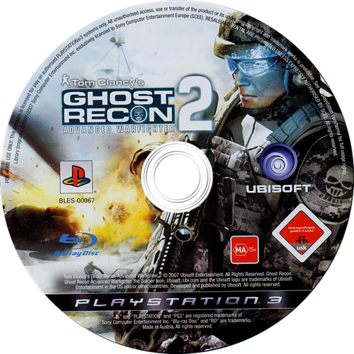 Tom Clancy's Ghost Recon: Advanced Warfighter 2 PS3 discM (BLES00067)