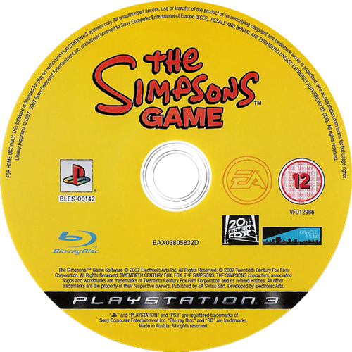 The Simpsons Game Array discM (BLES00142)